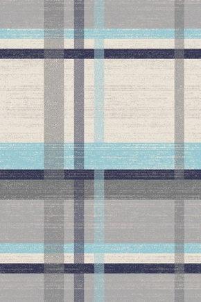 VÄVD MATTA 120 170  cm - beige/blå, Klassisk, ytterligare naturmaterial/textil (120/170cm) - Novel