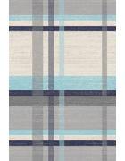 WEBTEPPICH - Blau/Beige, KONVENTIONELL, Textil/Weitere Naturmaterialien (120/170cm) - Novel