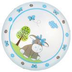 KINDERDECKENLEUCHTE - Blau/Weiß, LIFESTYLE, Glas/Metall (39,5cm) - MY BABY LOU