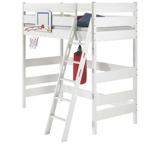 HOCHBETT Buche massiv 90/200 cm Weiß  - Weiß, Design, Holz (90/200cm) - Paidi
