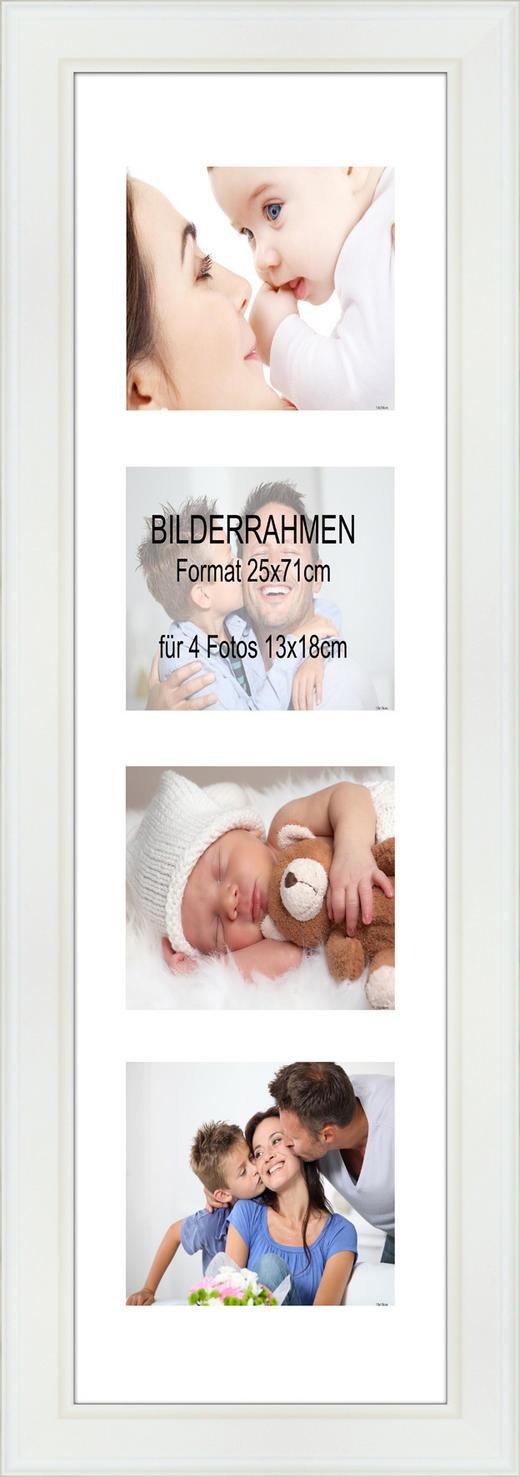 COLLAGEN-BILDERRAHMEN in Weiß - Weiß, Basics, Glas/Holz (71/25/1.7cm)