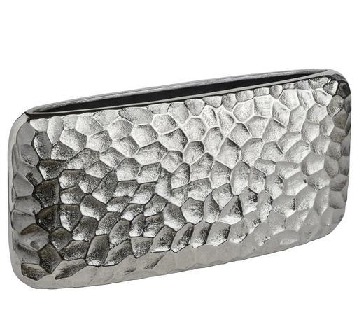 VASE 15,5 cm - Nickelfarben, Design, Metall (32/15,5/7cm) - Ambia Home