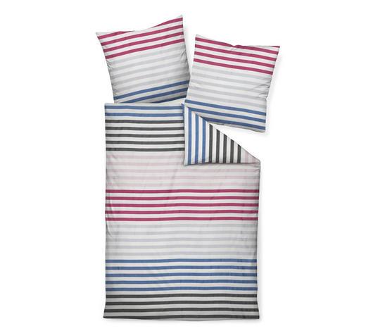 Bettwäsche Makosatin Blau Graphitfarben Weiß Pink 135200 Cm