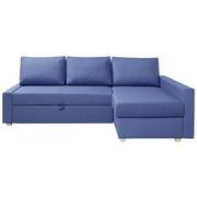 SJEDEĆA GARNITURA - plava/boje aluminija, Moderno, drvni materijal/drvo (230/155cm) - Ti`me