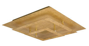 LED-DECKENLEUCHTE - Goldfarben, MODERN, Metall (40/40/10cm) - Novel