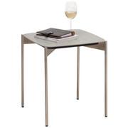 BEISTELLTISCH in Grau, Edelstahlfarben  - Edelstahlfarben/Grau, Design, Keramik/Metall (43/43/49cm) - Venjakob