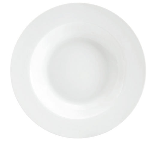 SUPPENTELLER 22 cm - Weiß, Basics, Keramik (22cm) - Homeware