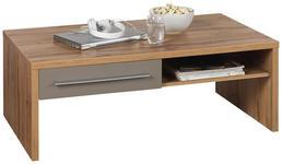 COUCHTISCH in Eichefarben, Grau - Eichefarben/Grau, Design, Holzwerkstoff (110/65/40cm) - Hom`in