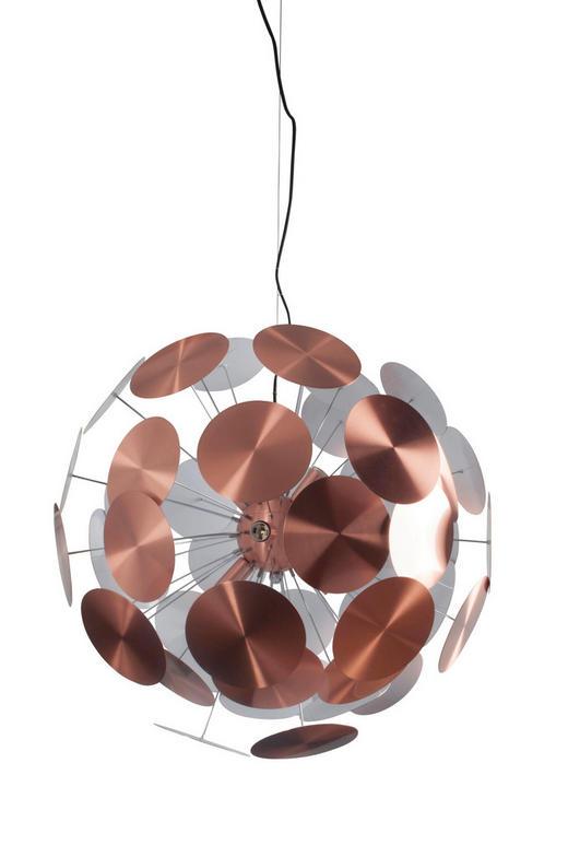 HÄNGELEUCHTE - Kupferfarben, Design, Metall (39/38,5/22cm)