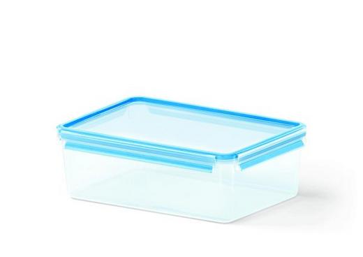 FÖRVARINGSBURK, 5,5L - blå/transparent, Basics, plast (32.7/22.7/11.1cm) - EMSA