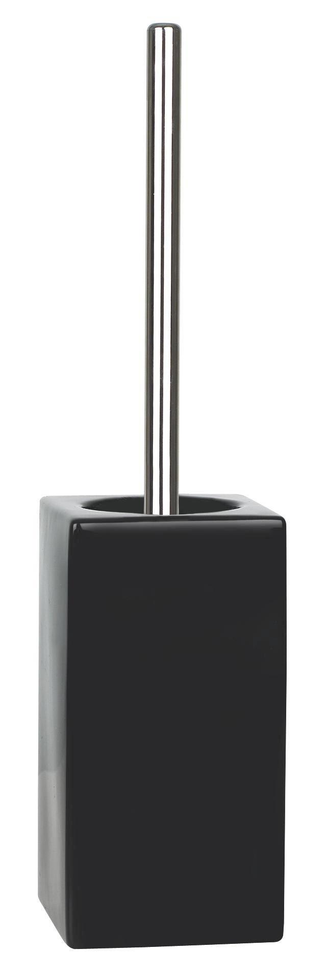WC-BÜRSTENGARNITUR - Schwarz, Basics, Keramik/Kunststoff (11.5/45cm) - SPIRELLA