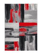 TKANI TEPIH - boje srebra/crvena, Design, tekstil (120/170cm)
