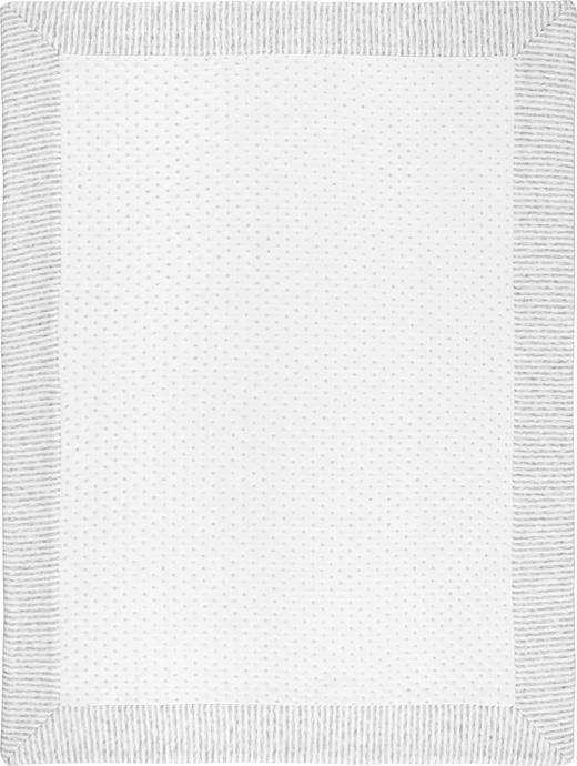 SCHMUSEDECKE - Weiß/Grau, Basics, Textil (75/100cm) - My Baby Lou