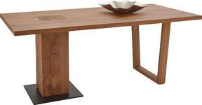 ESSTISCH in Holz, Metall 240/95/76 cm - Eichefarben, Design, Holz/Metall (240/95/76cm) - Valnatura