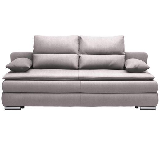 SCHLAFSOFA in Textil Silberfarben - Silberfarben, KONVENTIONELL, Kunststoff/Textil (207/94/90cm) - Venda