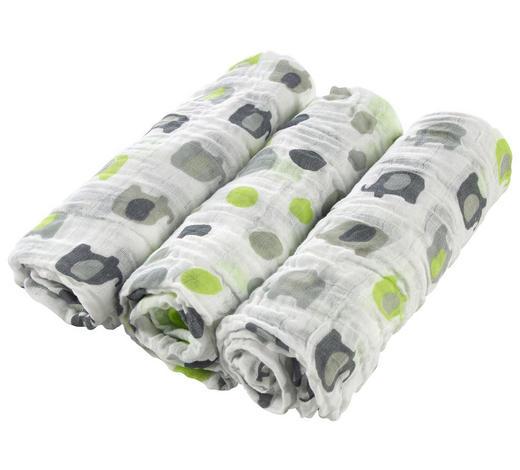 STOFFWINDEL  - Weiß/Grau, Basics, Textil (80/80cm) - My Baby Lou