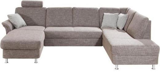 WOHNLANDSCHAFT - Chromfarben/Braun, KONVENTIONELL, Kunststoff/Textil (164/301/200cm) - Xora