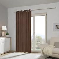 ÖSENVORHANG black-out (lichtundurchlässig) - Braun, Basics, Textil (140/245cm) - Esposa