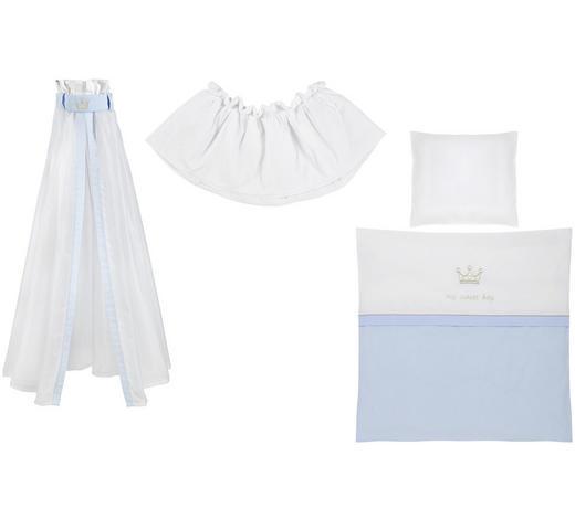 STUBENWAGENSET My sweet boy  - Blau/Weiß, Basics, Textil - Patinio