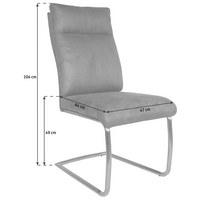 SCHWINGSTUHL in Metall, Textil Braun, Edelstahlfarben - Edelstahlfarben/Braun, Basics, Textil/Metall (47/104/64cm) - CARRYHOME