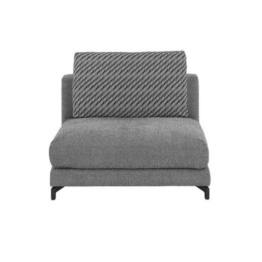 SOFAELEMENT Grau - Schwarz/Weiß, Design, Textil (105/72cm) - Rolf Benz