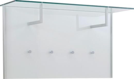 GARDEROBENPANEEL Alufarben, Klar, Weiß - Klar/Alufarben, Design, Glas/Metall (102/57/32,5cm) - Dieter Knoll