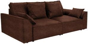 Bigsofa John B: 270 cm - Rostfarben/Schwarz, KONVENTIONELL, Textil (270/87/112cm) - James Wood