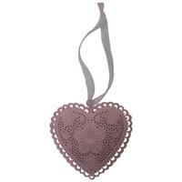 SRDCE DEKORAČNÍ - růžová, Trend, kov (8,5/8cm) - Ambia Home