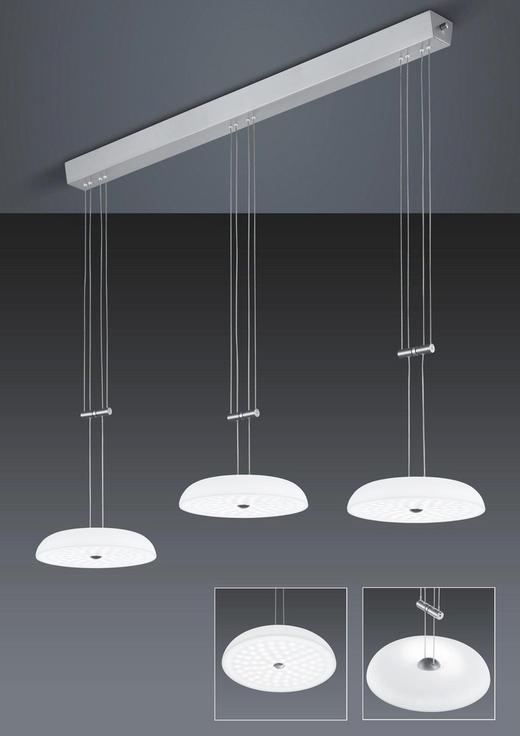 LED-HÄNGELEUCHTE - Design, Glas/Metall (110/150cm) - Bankamp