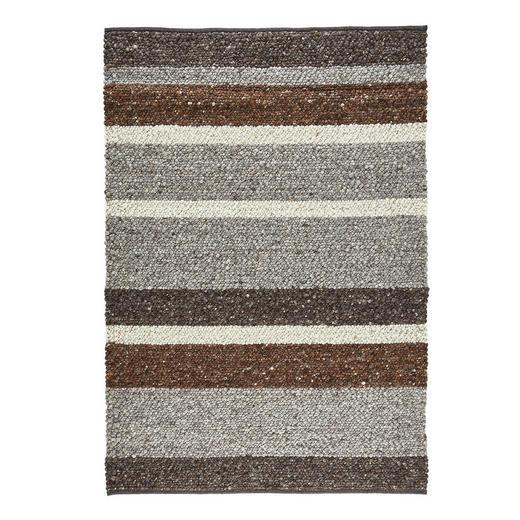 HANDWEBTEPPICH  140/200 cm  Braun, Grau, Beige - Beige/Braun, Basics, Textil (140/200cm) - Linea Natura