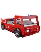 OTROŠKA/MLADINSKA POSTELJA - rdeča/črna, Basics, umetna masa/leseni material (90/200cm) - Boxxx