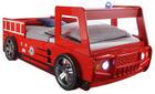 OTROŠKA/MLADINSKA POSTELJA - rdeča, Konvencionalno, leseni material (90/200cm) - Boxxx