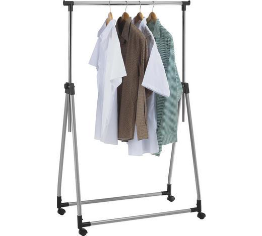 KLEIDERWAGEN Alufarben, Chromfarben  - Chromfarben/Alufarben, Basics, Kunststoff/Metall (89/100-165/47cm)