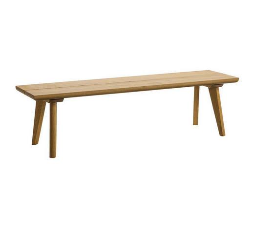 SITZBANK Eiche massiv Eichefarben  - Eichefarben, Design, Holz (140/37/38cm) - Hasena