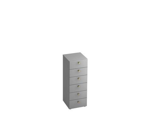 KOMMODE - Alufarben/Grau, KONVENTIONELL, Holzwerkstoff/Metall (40/110/42cm)