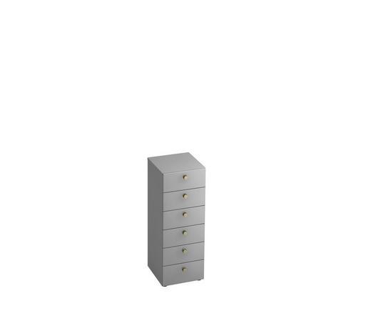 KOMMODE 40/110/42 cm  - Alufarben/Grau, KONVENTIONELL, Holzwerkstoff/Metall (40/110/42cm)