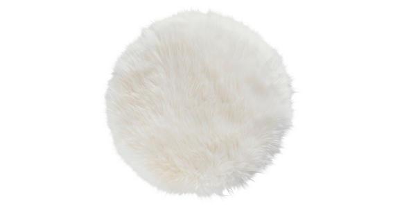 SITZKISSEN   34 cm  - Weiß, KONVENTIONELL, Textil/Fell (34cm) - Esposa