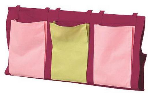 BETTTASCHE Grün, Lila, Rosa - Lila/Rosa, Design, Textil (38/93/1cm) - CARRYHOME