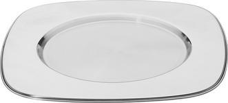 PLATZTELLER  33 cm - Silberfarben, Basics, Metall (33cm) - Novel