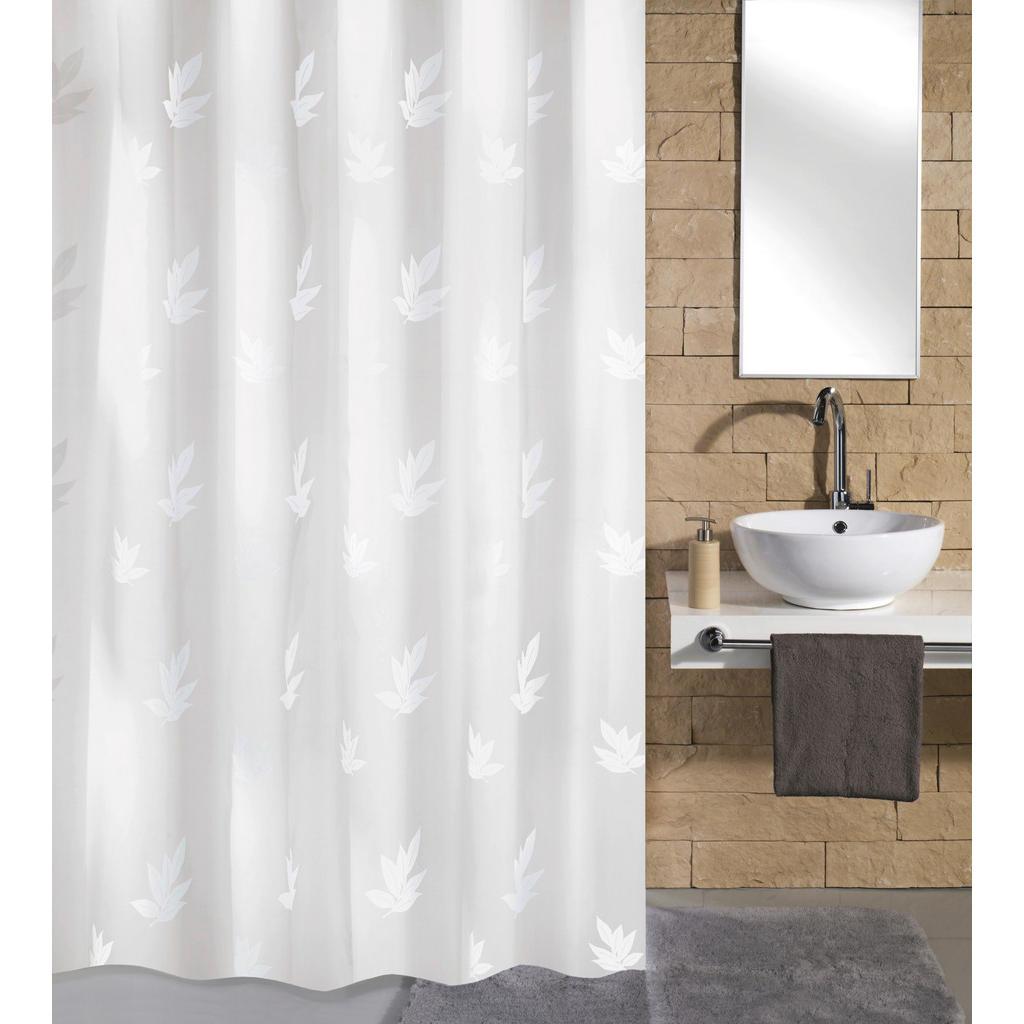Image of Kleine Wolke Duschvorhang 180/200 cm , 4994 114 305 Canton , weiss , Textil , Blätter , 180x200 cm , wasserabweisend , 003342129501