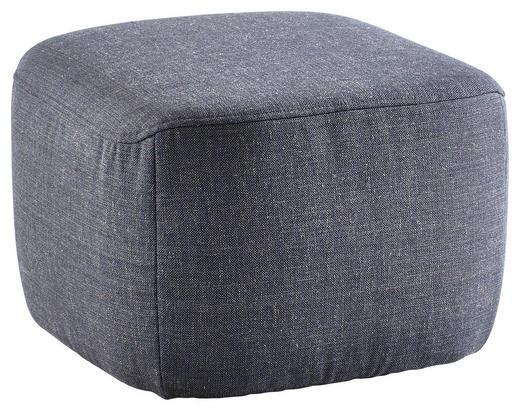 HOCKER Webstoff Dunkelblau - Schwarz/Dunkelblau, Design, Kunststoff/Textil (56/39/57cm) - Rolf Benz