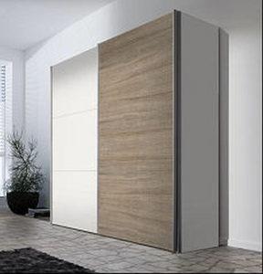 ORMAR SA KLIZNIM VRATIMA - Boja aluminijuma/Bela, Dizajnerski, Drvo/Metal (200/216/68cm) - Hom`in