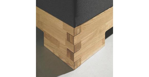 BOXSPRINGBETT 180 cm   x 200 cm   in Holz, Textil Braun, Eichefarben - Eichefarben/Braun, Natur, Holz/Textil (180/200cm) - Linea Natura