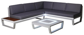 LOUNGEGRUPP - vit/grå, Design, metall/glas (217/168cm) - Ambia Garden