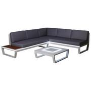 LOUNGE GARNITURA - bijela/siva, Design, staklo/metal (217/168cm) - Ambia Garden