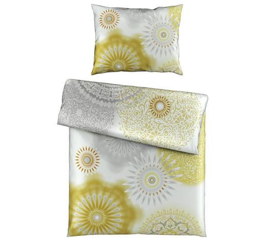 BETTWÄSCHE 140/200 cm  - Gelb/Silberfarben, KONVENTIONELL, Textil (140/200cm) - Esposa
