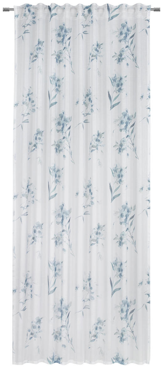 FERTIGVORHANG halbtransparent - Blau, KONVENTIONELL, Textil (135/245cm) - Esposa