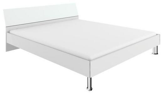 BETT 140/200 cm - Chromfarben/Weiß, Design, Metall (140/200cm) - Carryhome
