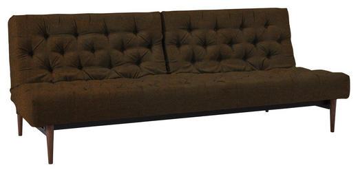 SCHLAFSOFA Lederlook Braun - Dunkelbraun/Braun, Design, Textil (200/115/79cm) - Innovation