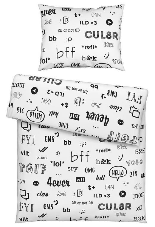 BETTWÄSCHE 140/200 cm - Weiß, Trend, Textil (140/200cm) - Novel